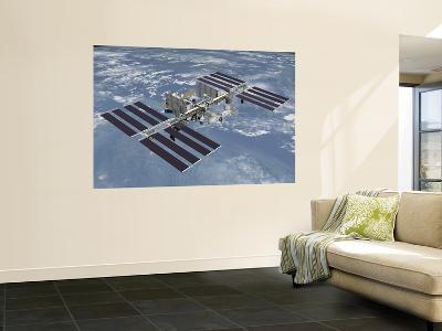 October 2006, Computer Generated Artist's Rendering of the Completed International Space Station--Wall Mural