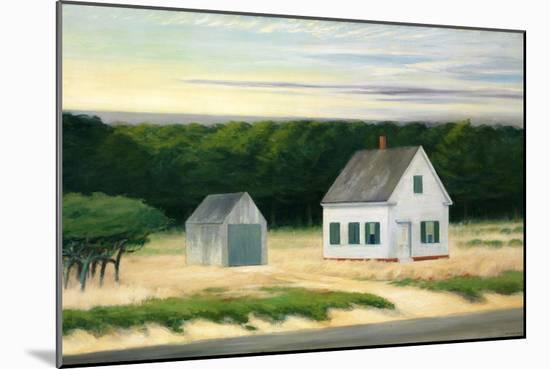 October on Cape Cod-Edward Hopper-Mounted Giclee Print