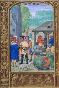 October, Wine-Making, Early 16th Century