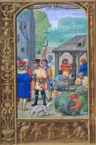 October, Wine-Making, Early 16th Century--Giclee Print