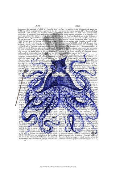 Octopus About Town-Fab Funky-Art Print