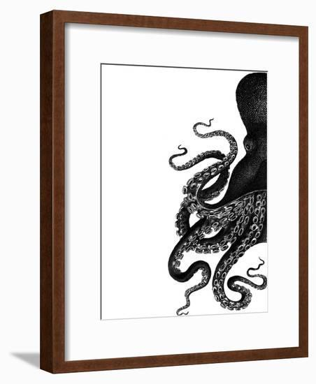 Octopus Black and White a-Fab Funky-Framed Art Print