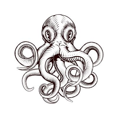 Octopus Illustration-Krisdog-Art Print