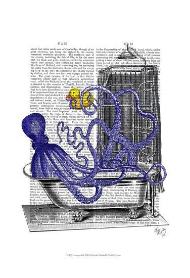 Octopus in Bath-Fab Funky-Art Print