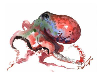 Octopus Rainbow Red-Suren Nersisyan-Art Print