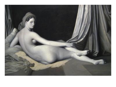 Odalisque in Grisaille-Jean-Auguste-Dominique Ingres-Art Print