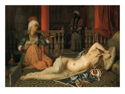 Odalisque with a Slave-Jean-Auguste-Dominique Ingres-Giclee Print