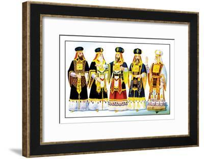 Odd Fellows: Costumes for the High Priest--Framed Art Print