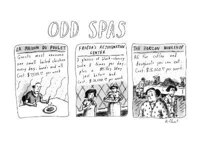 Odd Spas - New Yorker Cartoon-Roz Chast-Premium Giclee Print