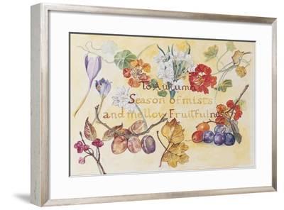 Ode to Autumn Keats, 2008-Caroline Hervey-Bathurst-Framed Giclee Print