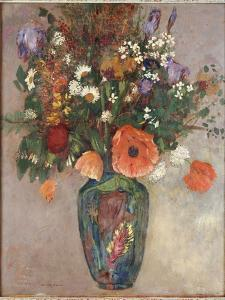 Bouquet of Flowers in a Vase by Odilon Redon