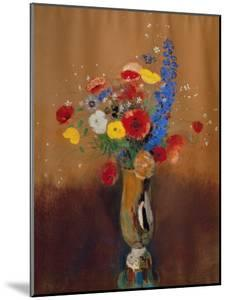Bouquet of Wild Flowers in a Vase with Long Neck, 1912, Gouache by Odilon Redon