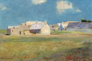Breton Village, c.1890 by Odilon Redon