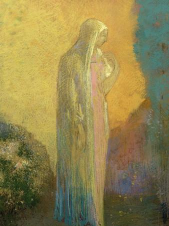 Femme voilée debout by Odilon Redon