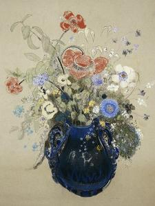 Flowers in a Blue Vase, C. 1905-08 by Odilon Redon