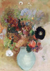 Flowers in a Green Vase, 1910 by Odilon Redon