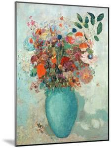 Flowers in a Turquoise Vase, C.1912 by Odilon Redon