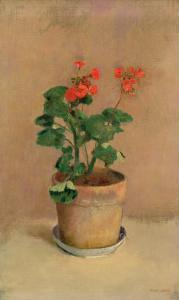 Geraniums in a Pot, c.1905 by Odilon Redon
