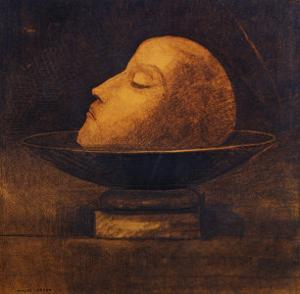 Head of a Martyr in a Bowl by Odilon Redon
