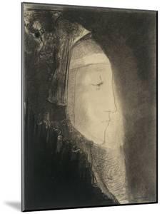 Profil de lumière: profil de femme voilée by Odilon Redon
