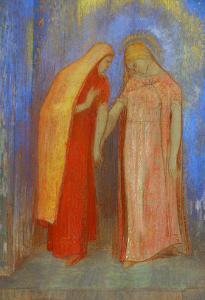 The Visitation by Odilon Redon