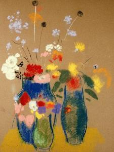 Three Vases of Flowers by Odilon Redon