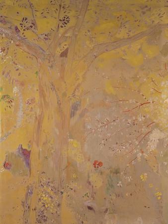 Tree Against a Yellow Background