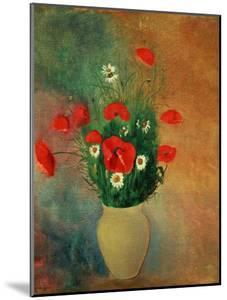 Vase with Red Poppies by Odilon Redon
