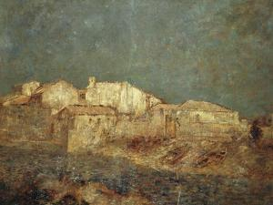 Venetian Landscape or Fishing District in Venice, 1908 by Odilon Redon