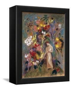Woman in Flowers, 1904 by Odilon Redon