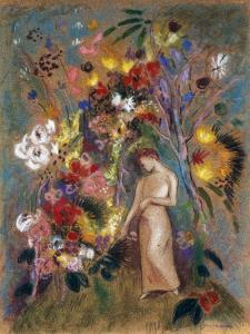 Woman in Flowers, 1904 by Odilon Redon