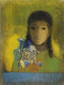 Woman with Wild Flowers by Odilon Redon