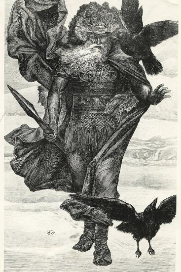 Odin and His Crows--Giclee Print