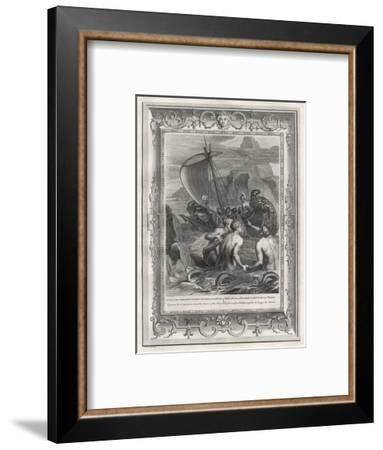 Odysseus and His Companions Avoid the Charms of the Sirens--Framed Giclee Print