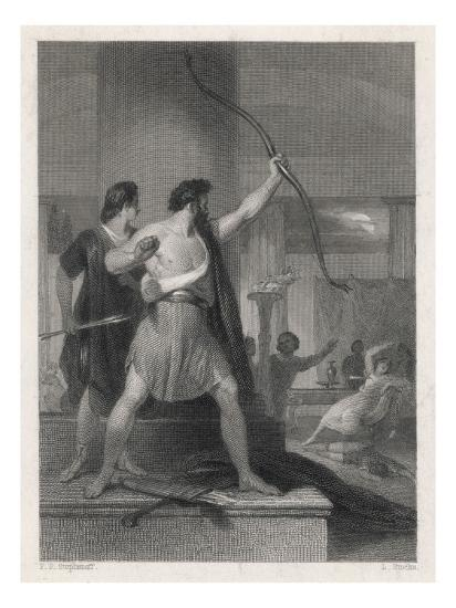 Odysseus and the Suitors--Giclee Print
