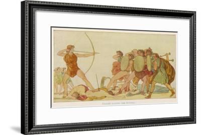 Odysseus Slays Suitors--Framed Giclee Print