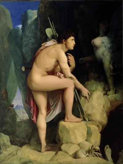 Oedipus and the Sphinx, 1864-Jean-Auguste-Dominique Ingres-Giclee Print