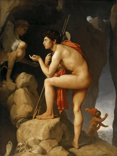 Image result for ingres oedipus and the sphinx