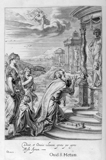 Oeneus, King of Calydon, Having Neglected Diana in a Sacrifice Is Punished for His Impiety, 1655-Michel de Marolles-Giclee Print