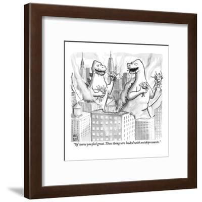 """Of course you feel great. These things are loaded with antidepressants."" - New Yorker Cartoon-Paul Noth-Framed Premium Giclee Print"