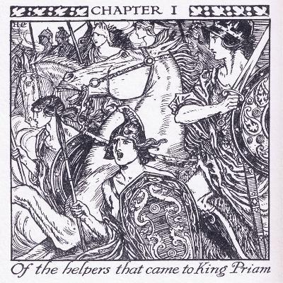 Of the Helpers Who Came to King Priam-Herbert Cole-Giclee Print