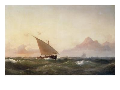 Off the Coast of North Africa, 1853-Wilhelm Melbye-Giclee Print