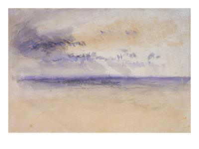 Off the Coast: Seascape and Clouds, 19th Century-J^ M^ W^ Turner-Giclee Print