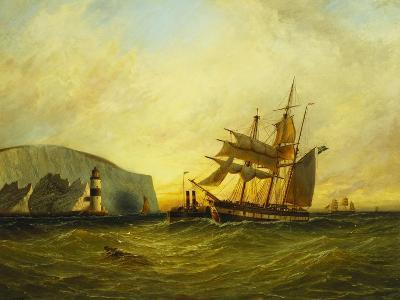 Off the Needles, Isle of Wight, 1899-George Gregory-Giclee Print