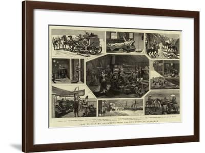 Off to Join My Regiment, from Charing Cross to Candahar--Framed Giclee Print