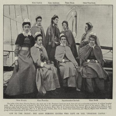 Off to the Front, the Army Nursing Sisters Who Left on the Braemar Castle--Giclee Print