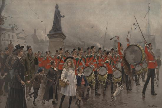 Off to the Front - Yorkshire Regiment, 1899-Maurice Henri Orange-Giclee Print
