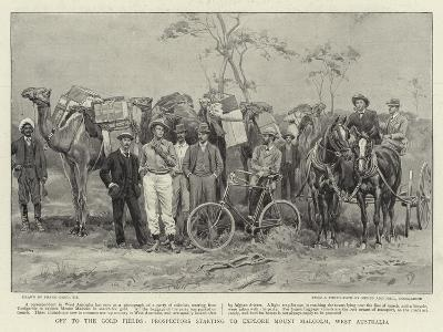 Off to the Gold Fields, Prospectors Starting to Explore Mount Malcolm, West Australia-Frank Dadd-Giclee Print