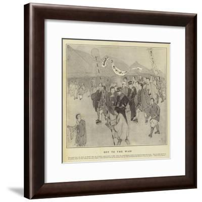 Off to the War--Framed Giclee Print
