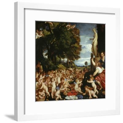 Offerings to Venus-Titian (Tiziano Vecelli)-Framed Giclee Print